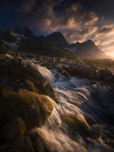 Flowing away from the peaks by Isabella Tabacchi