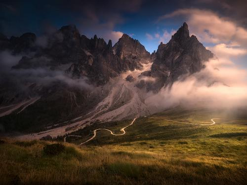 On the way under the clouds by Isabella Tabacchi