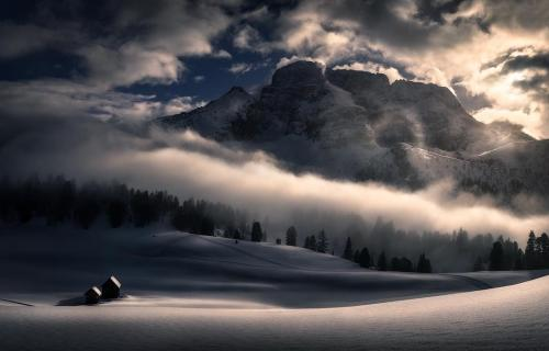 Sun playing with the clouds by Isabella Tabacchi